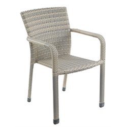 TOBS All-Weather Stacking Faux Rattan Chair
