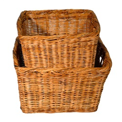 Small Tapered Oblong Rattan Log Basket