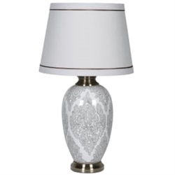 Dove Grey Lamp & Shade