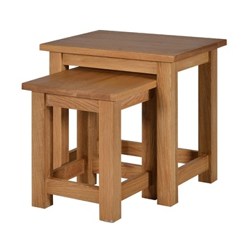 Brooklyn Oak Nest of 2 Tables