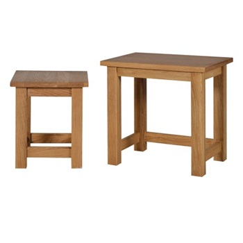 Brooklyn Oak Nest of 2 Tables 2