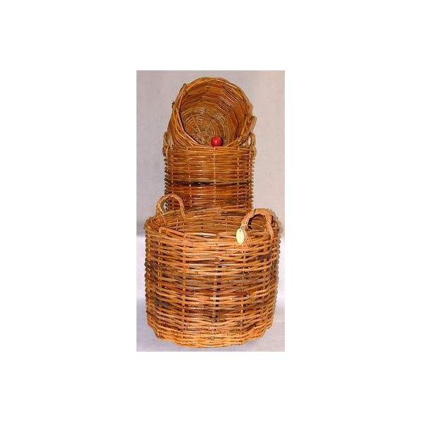 Giant Round Rattan Log Baskets