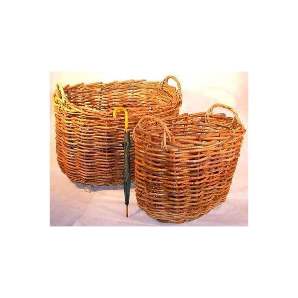 Giant Oval Rattan Log Baskets