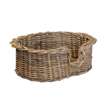 Extra Small Grey Oval Dog Basket