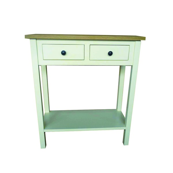 Cream Painted 2 Drawer Telephone Table