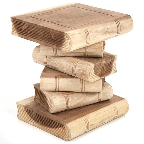 Book Stack Table Plain