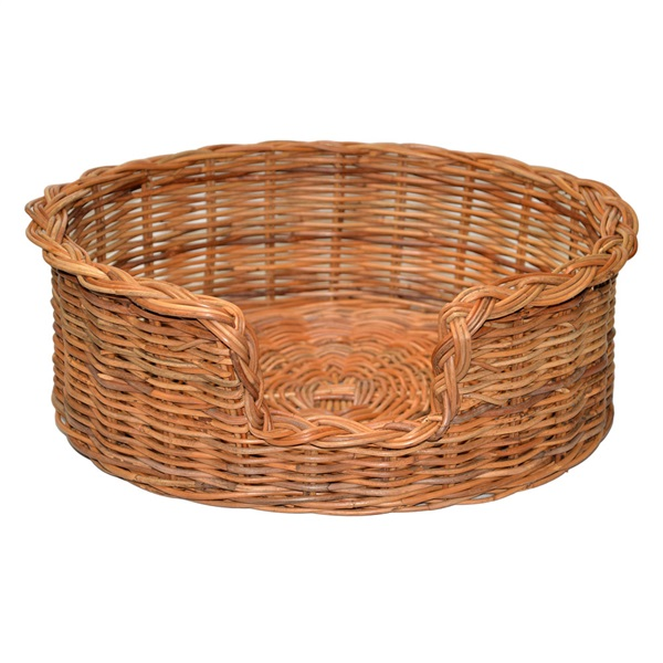 Medium Rattan Oval Dog Basket