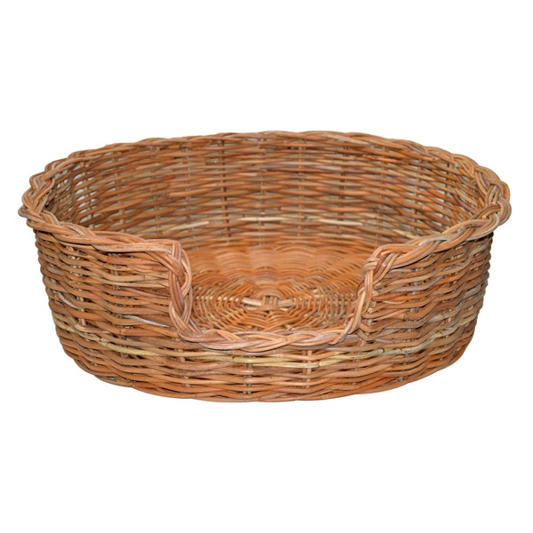Large Rattan Oval Dog Basket