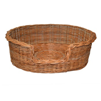 Extra Large Rattan Oval Dog Basket