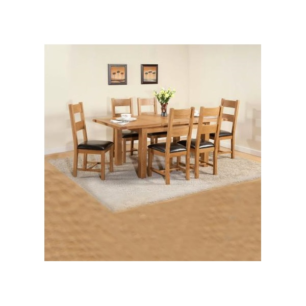 Shrewsbury Oak Dining Table With 2 33cm Extensions
