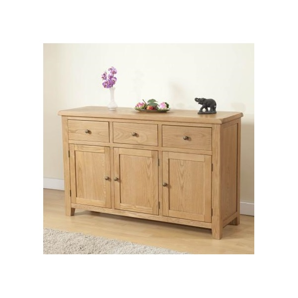 Shrewsbury Oak 3 Door Sideboard
