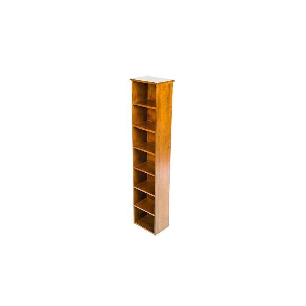 Accent Rubberwood CD/DVD Rack Unit Dark