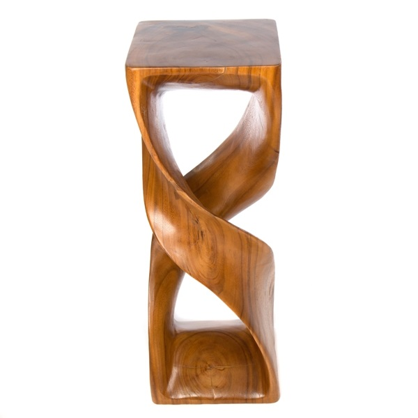Extra Large Double Twist Wooden Stool Honey