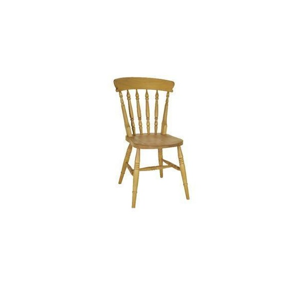 Beech High Back Spindle Chair