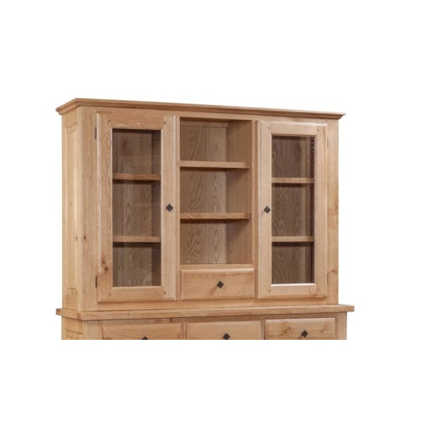 Tuscany Oak Hutch for 3 Door 3 Drawer Sideboard