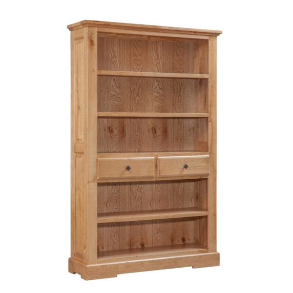 Tuscany Oak Large Bookcase