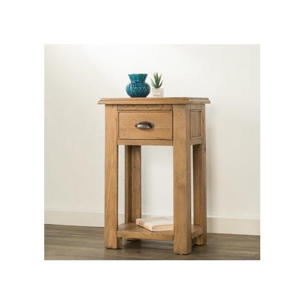 Hartford Oak Small Console Table with 1 Drawer & S