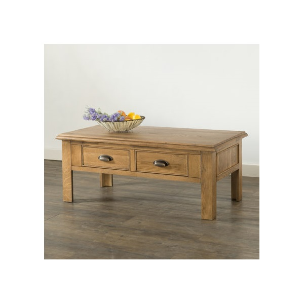 Hartford Oak Coffee Table with 2 Drawers