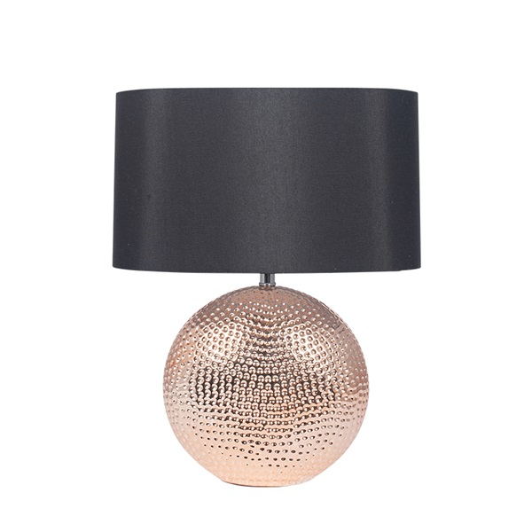 Mabel Copper Textured Ceramic Table Lamp
