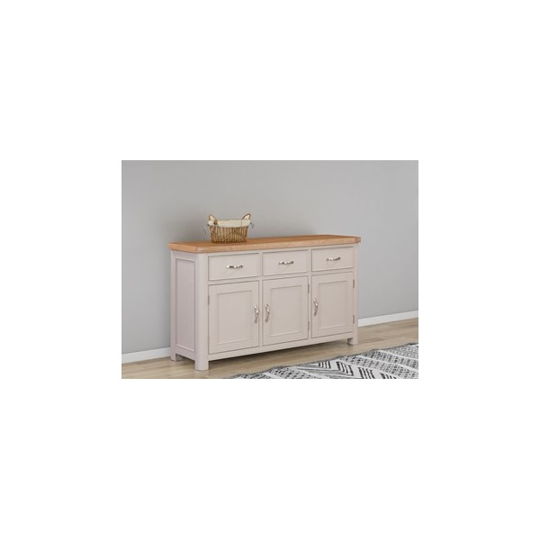 chatsworth grey painted 3 door 3 drawer sideboard