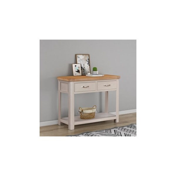 Chatsworth Grey Painted Console Table with 2 Drawe