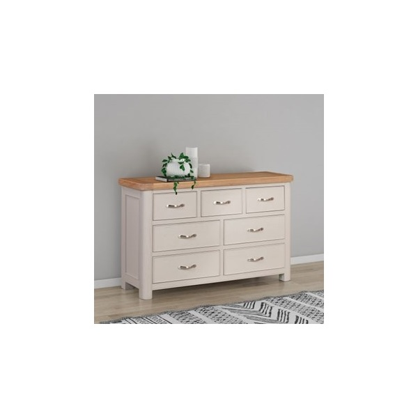 Chatsworth Grey Painted 3 over 4 Chest of Drawers