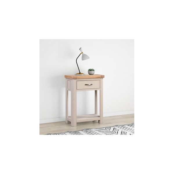 Chatsworth Grey Painted Small Console Table with 1