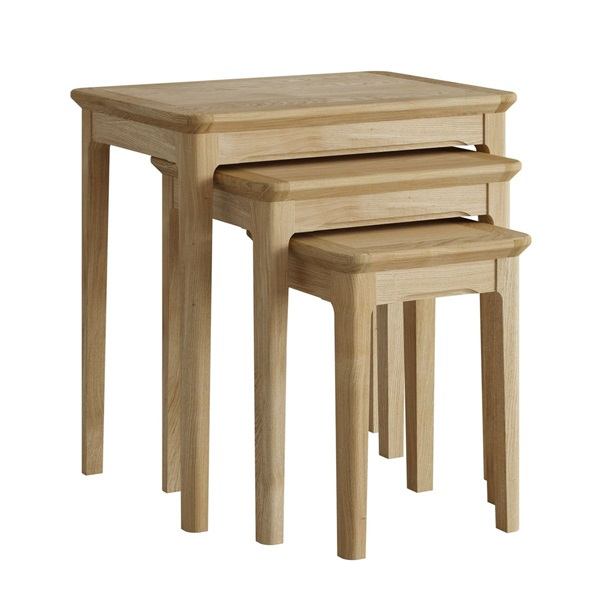 Hudson Oak nest of 3 tables