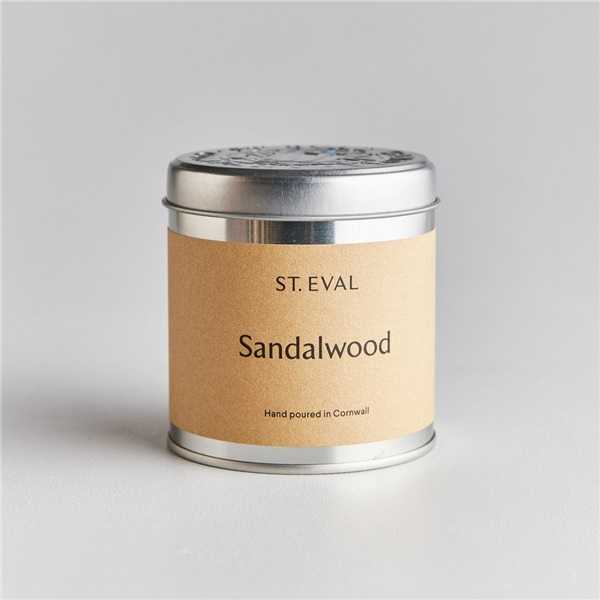 Sandalwood Scented Tin Candle