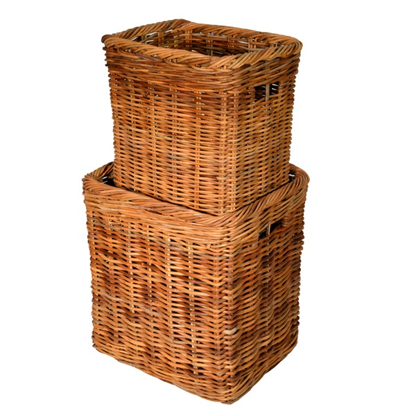 Medium Tall Oblong Log Basket