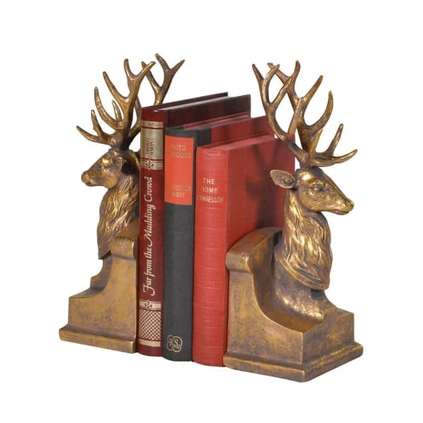 Stag Book Ends
